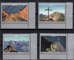 LIECHTENSTEIN ,2018,MNH, SUMMIT CROSSES, MOUNTAINS,4v - Geology