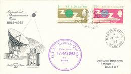 DC-1485 - FDC 1965 - 100 YEARS TELECOMMUNICATION ITU - UIT - SATELLITE - BRITISH GUIANA - Telecom