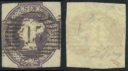 1847-54 GREAT BRITAIN USED REGINA VITTORIA SG 58 6d - E152 - 1840-1901 (Victoria)