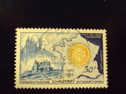 "1954     -timbre Oblitéré N°  1009   ""  50 Ans Rotary   ""       Cote   2    Net   0.65 - France"