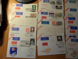 LOT   FDC PAR AVION  COMPAGNIE AUSTRIAN AIRLINES  100 PIECES  TRES GROSSE COTE - Briefmarken