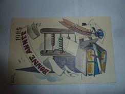 Claude Buret 84 Bonne Année 1985 Carte De Joseph Lotz Numérotée - Andere Zeichner