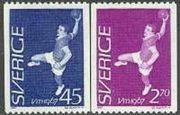 ZWEDEN 1967 WK Handbal Serie PF-MNH - Nuevos