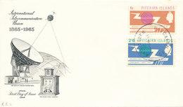 DC-1492 - FDC 1965 - 100 YEARS TELECOMMUNICATION ITU - UIT - SATELLITE - PITCAIRN ISLANDS - Pitcairn Islands