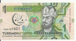 TURKMENISTAN 1 MANAT 2017 UNC P 36 - Turkménistan
