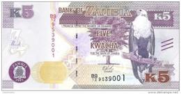 Zambia - Pick 57 - 5 Kwacha 2015 - Unc - Zambia