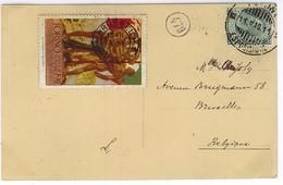 TORINO ESPOSIZIONE INTERNAZIONALE 1911 CARTOLINA VIAGGIATA BRUXELLES ANNULLO - Erinnofilia