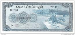 Cambodia - Pick 13 - 100 Riels 1956 - 1972 - Unc - Cambogia