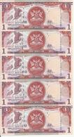 TRINIDAD ET TOBAGO 1 DOLLAR 2006(2017) UNC P 46 C ( 5 Billets ) - Trinité & Tobago