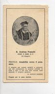 SANTINO Antico Image Pieuse Religieuse Holy Card Beato Andrea Franchi Serie Curia Generalizia Dei Domenicani - - Godsdienst & Esoterisme