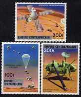 Centrafricaine P. A.  N° 178 / 80 X Opération Viking Sur Mars Les 3 Vals Trace De Charnière Sinon TB - Centrafricaine (République)