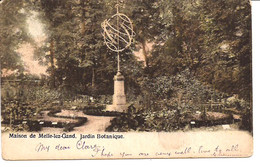 MELLE MAISON DE MELLE  JARDIN BOTANIQUE  MET ZONNEWIJZER STEMPEL 1903  ZEGEL WEG  R 6/104 - Melle
