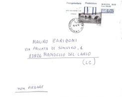 2014 €01,90 PONTE DI TIBERIO RIMINI LETTERA DUE POTI - Ponti