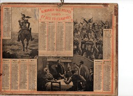 Calendrier Almanach Des Postes Et Télégraphes 1905 Oberthur Militaires Militaria - Calendriers