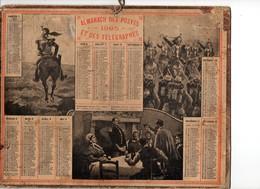 Calendrier Almanach Des Postes Et Télégraphes 1905 Oberthur Militaires Militaria - Grand Format : 1901-20