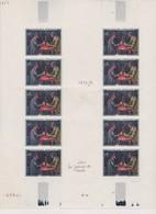 FRANCE 1961: 1ère Série De Tableaux, Le 0,85F En Minifeuille De 10 Timbres, Neufs** ,  TTB - Frankreich