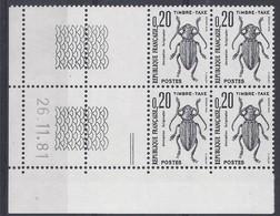 TAXE N° 104 - Bloc De 4 COIN DATE - NEUF SANS CHARNIERE - 26/11/81 - Portomarken