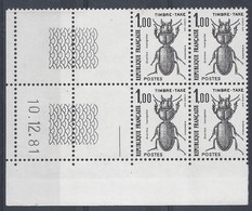 TAXE N° 106 - Bloc De 4 COIN DATE - NEUF SANS CHARNIERE - 10/12/81 - Portomarken