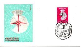 ARGENTINE. N°591 De 1958 Sur Enveloppe 1er Jour. Année Géophysique Internationale. - International Geophysical Year