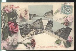 CPA  Grenoble - De Grenoble Je Vous Envoie Ces Fleurs -  Circulé 1907 - Grenoble
