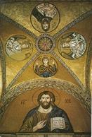 Hosios Loukas (Atene, Grecia) The Monastery: Jesus, The Virgin, Angel Gabriel, St. John, Angel Michel, Mosaic - Grecia