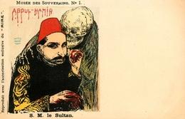 """"""" Le Musée Des Souverains """" Illustrateur - Série De 12 CPA - Dos 1900 - Politique - Satirique - Roi Renne King Queen - Satirical"""