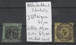 TIMBRES D ALLEMAGNE OBLITERES ( BADEN)   NR 3a SIGNEE -2 B    COTE 64 € - Bade