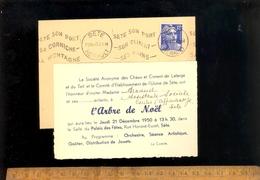 Invitation à L'arbre De Noël De La Société Anonyme Des Chaux Et Ciments De LAFARGE Et Du TEIL & CE Usine De SETE 1950 - France