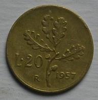 R I 20 Lire Ramo Di Quercia 1957 Vedi Foto - 20 Lire
