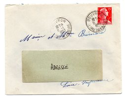 LOIRE INFERIEURE - Dépt N° 44 = BOUVRON 1957 = CACHET A7 - Manual Postmarks