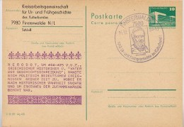 DDR P84-62-84 C104-a Postkarte Zudruck HERODOT Finsterwalde Sost. 1984 - Geographie