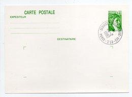- CARTE POSTALE 1 F. 40 Vert Type Sabine - SERVICE PHILATELIQUE DES PTT 26.2.1982 - - Entiers Postaux