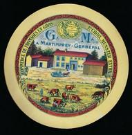 "Ancienne étiquette Fromage En Gros Munster Extra 1er Choix ""GM"" à Martimprey-Gerbépal Vosges 88 Impression J Marchall Ge - Quesos"