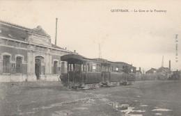 Quiévrain  La Gare Et Le Tramway ( Tram Vicinal ) - Quiévrain