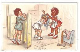 CPA Fantaisie Illustrateur Germaine BOURET  Un Resquilleur  Enfants - Editions D'Art N°29 - Bouret, Germaine