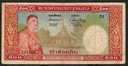 LAOS P7 500 KIP 1957 FINE Many P.h. - Laos