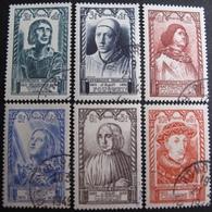 R1680/436 - 1946 - CELEBRITES -  N°765 à 770 ☉ - Cote : 12,00 € - France
