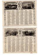 ALMANACH- CALENDRIER   1855 Semestriel   Allégorie  Marine  La Pêchê   FEV-2019-clas - Calendriers