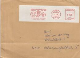 (D0056) Allemagne Oblitératon Mécanique Scoutisme Essen 1 12.3.86 - Lettres & Documents
