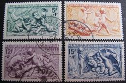 R1680/437 - 1949 - SERIE DES SAISONS -  N°859 à 862 ☉ - Cote : 11,00 € - France