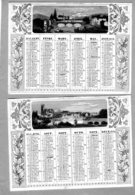 ALMANACH- CALENDRIER  Semestriel 2  Vue De Tarascon Et Second Semestre Vue De Valence Décors Second Empire  FEV-2019- - Calendriers