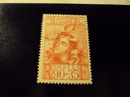 """1939     -timbre Oblitéré N° 428    """" Pour Les Enfants Des Chomeurs 90+25     """"       Cote    2.75   Net    0.90 - Frankreich"""
