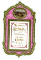 ALMANACH-CALENDRIER  CHROMOS 1870  EFFEUILLER  Médaillon  Chromo  Style  Second Emprire Napoléon III Dorure Or - Calendriers