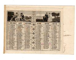 ALMANACH-CALENDRIER  LITHOGRAPHIE  1855    Allégorie  4 Saisons  , Second Emprire Napoléon III - Calendriers