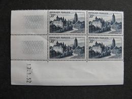 B). TB Bloc De 4 Coin Daté:  17.1.1952 Du N° 905, Neuf XX . - Coins Datés