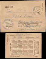 S7479 - DR Estland Feldpost Briefumschlag Mit Kalender 1943: Gebraucht Räpina - Muggendorf 1943, Bedarfserhaltung Mit I - Deutschland
