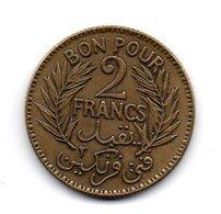 TUNISIE -  Bon Pour 2 Francs - 1924 - Tunisie
