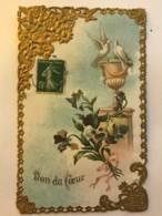 Belle Carte Dentelle - Don Du Coeur - Dreh- Und Zugkarten