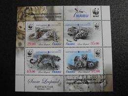 Kyrgyzstan 2013 - WWF Snow Leopard  (Panthera Uncia) Souvenir Sheet International Forum On Snow Leopard Conservation - Kirghizistan