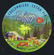 """étiquette Fromage Coulommiers Extra Fin Le Super  45%mg Fromagerie Thaonnaise Vosges 88 """"vaches"""" - Fromage"""